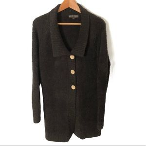 Barefoot Dreams Button Cardigan Espresso Size Med